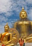 Het standbeeld van Boedha in Wat Muang in Thailand Royalty-vrije Stock Afbeelding