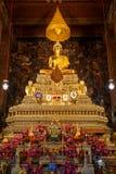 Het Standbeeld van Boedha in Wat Pho (Pho-Tempel) in Bangkok Royalty-vrije Stock Fotografie