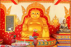 Het Standbeeld van Boedha in Wat Phra Yai Big Buddha-Tempel, Koh Samui, Thailand Royalty-vrije Stock Afbeelding