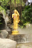 Het standbeeld van Boedha in Wat Sraket Rajavaravihara, Thailand Royalty-vrije Stock Afbeelding