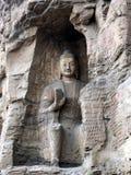 het standbeeld van Boedha in yunganggrotten Stock Foto's