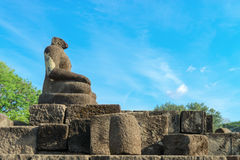 Het standbeeld van Boedha zonder hoofd, Candi Sewu complex in Java, Indonesi Royalty-vrije Stock Afbeelding