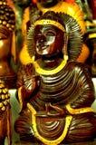 Het standbeeld van buitensporige Boedha Stock Foto's