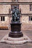 Het standbeeld van Charles Darwin, Shrewsbury, Engeland. Stock Fotografie