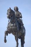 Het standbeeld van Charles I van de koning, Trafalgar Vierkant, Londen Royalty-vrije Stock Afbeelding