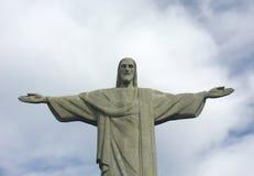 Het standbeeld van Christus in Corcovado Stock Foto