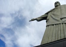 Het standbeeld van Christus in Corcovado stock afbeeldingen
