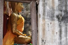 Het standbeeld van close-upboedha Royalty-vrije Stock Foto