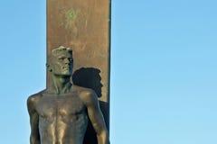 Het Standbeeld van Cruz Surfer van de kerstman in Californië stock afbeelding