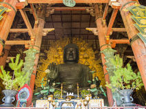 Het standbeeld van Daibutsuboedha van Todai -todai-ji, Nara Royalty-vrije Stock Foto's
