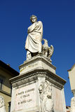 Het standbeeld van Dante in Florence Royalty-vrije Stock Afbeeldingen