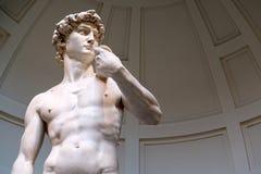 Het standbeeld van David dat door Michelangelo wordt gebeeldhouwd stock afbeelding