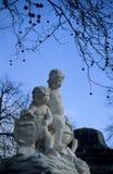 Het Standbeeld van de cherubijn Stock Afbeelding