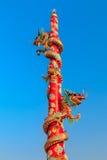 Het standbeeld van de draak Stock Foto