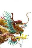 Het standbeeld van de draak in Chinese tempel stock fotografie