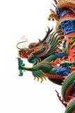 Het standbeeld van de draak in het centrale deel van Thailand Stock Afbeeldingen