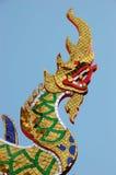 Het standbeeld van de draak in Thailand Stock Foto