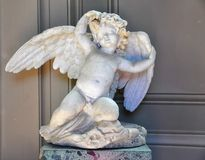 Het standbeeld van de engel in de Musea van Vatikaan, Rome stock afbeelding