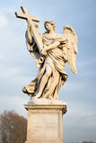 Het standbeeld van de engel op Ponte del Angelo, Rome Stock Afbeelding