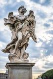 Het standbeeld van de engel in Rome Stock Foto