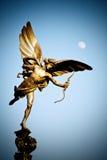 Het Standbeeld van de eros in Londen stock foto's
