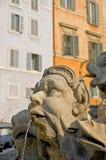 Het standbeeld van de fontein bij Pantheon Royalty-vrije Stock Fotografie