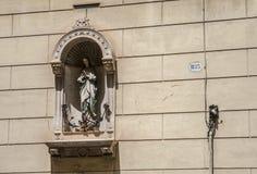 Het standbeeld van de heilige De straten van Rome Royalty-vrije Stock Foto