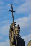 Het standbeeld van de held Stock Afbeeldingen