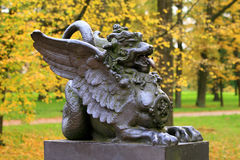 Het standbeeld van de herfst Stock Foto's