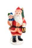 Het standbeeld van de Kerstman Stock Afbeeldingen