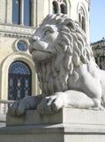 Het Standbeeld van de leeuw stock fotografie