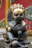 Het standbeeld van de leeuw in Verboden Stad, Peking Stock Fotografie