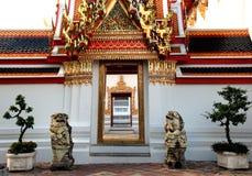 Het Standbeeld van de leeuw in Wat Pho Bangkok Thailand Royalty-vrije Stock Foto's