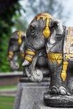 Het standbeeld van de olifant stock foto