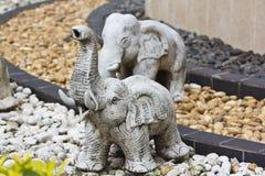 Het standbeeld van de olifant Stock Afbeelding