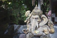 Het standbeeld van de olifantssteen in Ubud, Bali, Indonesië Royalty-vrije Stock Foto's