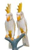 Het standbeeld van de papegaai bij een toevlucht Royalty-vrije Stock Afbeelding