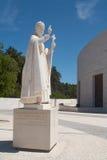 Het Standbeeld van de paus in Fatima Santuary royalty-vrije stock foto