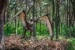 Het standbeeld van de pterodactylusdinosaurus royalty-vrije stock foto's