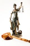 Het standbeeld van de rechtvaardigheid Stock Foto's