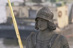 Het standbeeld van de ridder Bruncvik stock afbeeldingen