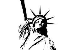 Het Standbeeld van de Stad van New York van Vrijheid Stock Afbeeldingen