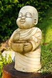 Het Standbeeld van de steen van monnik Royalty-vrije Stock Fotografie