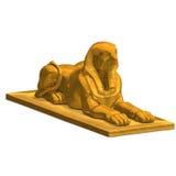 Het standbeeld van de valk royalty-vrije illustratie
