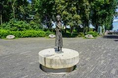 Het Standbeeld van het de Volkerenmoordmeisje van Kiev Holodomor stock foto