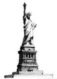 Het standbeeld van de vrijheid Stock Afbeeldingen