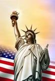 Het standbeeld van de vrijheid Stock Fotografie