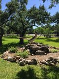 Het standbeeld van de wegagent in de heuvelprovincieplaats van Texas royalty-vrije stock afbeeldingen