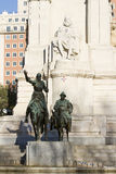 Het standbeeld van Don Quixote en Sancho Panza- Royalty-vrije Stock Foto