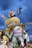 Het standbeeld van Falla van Valencia, Spanje Royalty-vrije Stock Foto's
